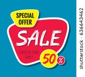 sale vector banner template  ... | Shutterstock .eps vector #636643462