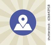 location icon. sign design.... | Shutterstock . vector #636643918