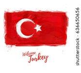 symbol  poster  banner turkey.... | Shutterstock .eps vector #636650656