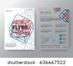business templates creative... | Shutterstock .eps vector #636667522