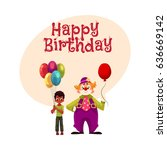 happy birthday vector greeting... | Shutterstock .eps vector #636669142