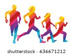 vector template colored... | Shutterstock .eps vector #636671212