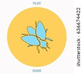 insect blue outline vector icon ...