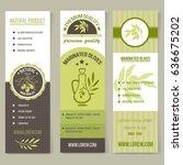vintage style vector olive oil... | Shutterstock .eps vector #636675202