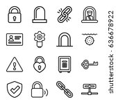 security icons set. set of 16... | Shutterstock .eps vector #636678922