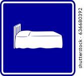 bed sign | Shutterstock .eps vector #636680392