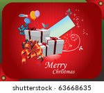 christmas gifts vector... | Shutterstock .eps vector #63668635