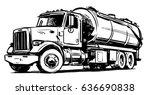 vacuum truck sketch | Shutterstock .eps vector #636690838