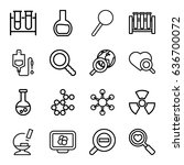 research icons set. set of 16... | Shutterstock .eps vector #636700072