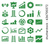 progress icons set. set of 25... | Shutterstock .eps vector #636700372