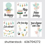 Happy Birthday Party Cards Set...