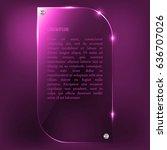 glass plate. vector glass...   Shutterstock .eps vector #636707026