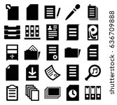 file icons set. set of 25 file... | Shutterstock .eps vector #636709888