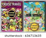 cartoon colorful vacation and... | Shutterstock .eps vector #636713635