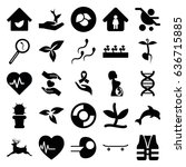 life icons set. set of 25 life... | Shutterstock .eps vector #636715885