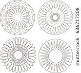 set of flowers | Shutterstock .eps vector #636717208