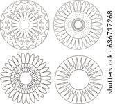 set of flowers | Shutterstock . vector #636717268