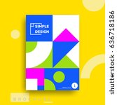 colorful flat geometric covers... | Shutterstock .eps vector #636718186