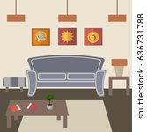 living room vector illustration.... | Shutterstock .eps vector #636731788