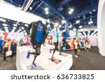 blurred sports and fitness... | Shutterstock . vector #636733825