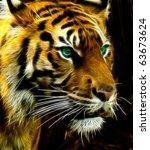 Bengal Tiger A Fractal Filtere...