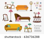 interior. sofa sets and home... | Shutterstock .eps vector #636736288