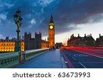 big ben at night  london | Shutterstock . vector #63673993