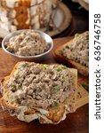 healthy wholegrain bread... | Shutterstock . vector #636746758