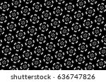ornament with elements of black ... | Shutterstock . vector #636747826