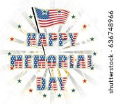 happy memorial day usa  a... | Shutterstock . vector #636748966