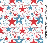 happy memorial day usa  a... | Shutterstock . vector #636749065