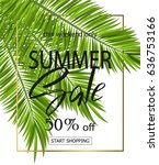 summer sale banner  poster with ... | Shutterstock .eps vector #636753166