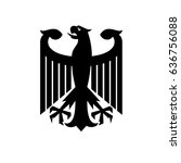 eagle  coat of arms of germany | Shutterstock .eps vector #636756088