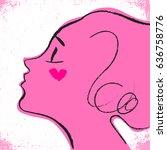i love you fashion illustration ... | Shutterstock .eps vector #636758776