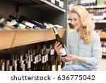 gorgeous mature woman shopping... | Shutterstock . vector #636775042