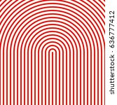 red circular lines on white... | Shutterstock .eps vector #636777412
