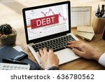 debt finance bill interest loan ... | Shutterstock . vector #636780562