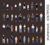 diversity people set gesture... | Shutterstock . vector #636789202