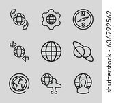 geography icons set. set of 9... | Shutterstock .eps vector #636792562