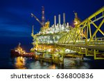 offshore oil and gas central... | Shutterstock . vector #636800836