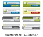 web elements for your website... | Shutterstock .eps vector #63680437