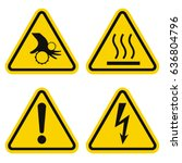 danger sign set | Shutterstock .eps vector #636804796