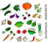 vegetables | Shutterstock .eps vector #636818476