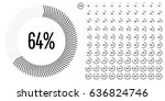 set of circle percentage... | Shutterstock .eps vector #636824746
