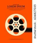 movie and film retro vintage... | Shutterstock .eps vector #636827035
