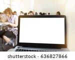 computer laptop screen with... | Shutterstock . vector #636827866