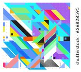 abstract colorful geometric... | Shutterstock .eps vector #636828595