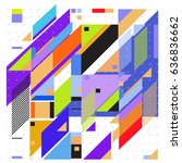 abstract colorful geometric... | Shutterstock .eps vector #636836662