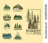 tree outdoor travel green... | Shutterstock .eps vector #636850048