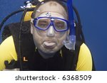 diver in deep with tongue and... | Shutterstock . vector #6368509